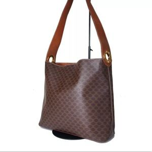 Authentic Celine Shoulder brown leather bag